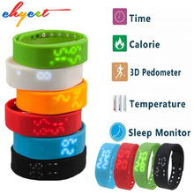 USB W2 Smartband Bracelet Time Display Smart Watch with Calorie 3D Pedometer Temperature Sleep Monitor Waterproof Wristband