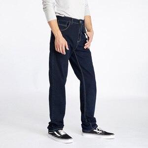 Image 3 - Drizzte สูงเอวหลวมตรง Mens ยืดกางเกงยีนส์กางเกงยีนส์สีฟ้ากางเกงแบรนด์ใหญ่และสูงกางเกงยีนส์สำหรับ big Man
