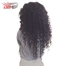 DLME 130% Density 10-26 inches Natural Hair Lace Front Wig for Black Women Brazilian Curly With Bleached Knots Synthetic