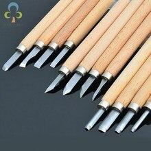 12 sztuk/8 sztuk/6 sztuk profesjonalna rzeźba w drewnie dłuta nóż zestaw narzędzi ręcznych dla podstawowe szczegółowe rzeźba stolarzy Gouges GYH