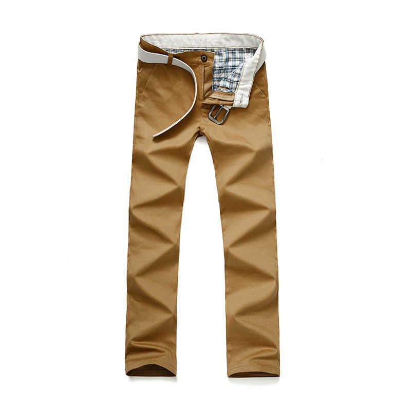 2018 New Fashion Brand Men's Pants Slim Solid Color Elasticity Men Casual Pants Man Trousers Designer Khaki Mens Pencil Pants