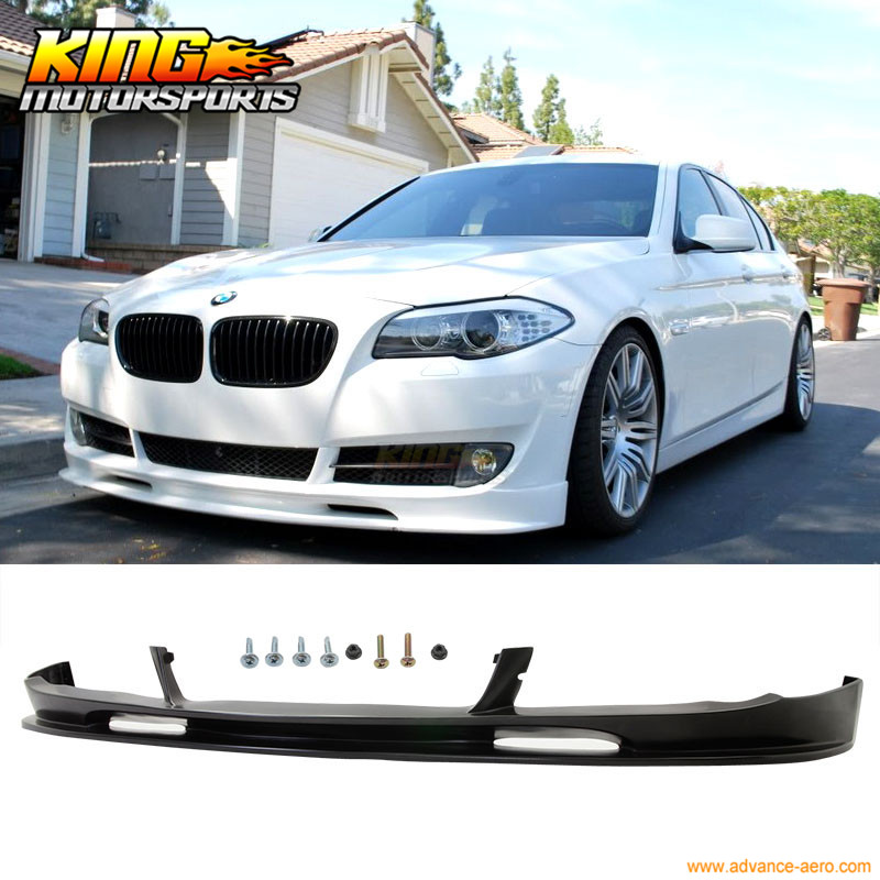 For 10-13 BMW F10 5 Series 3D Style Front Bumper Lip Unpainted PU splitter fit 05 06 07 08 09 10 11 12 13 chevy corvette c6 base front bumper lip splitter spoiler pu