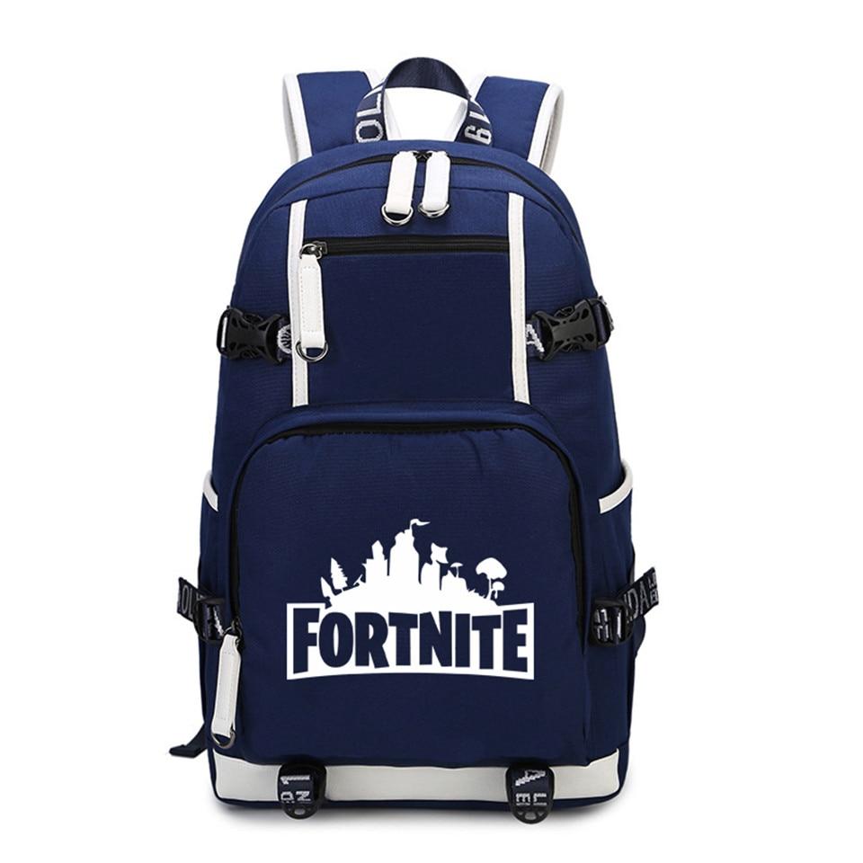 Fortnite batoh Cestovní taška Školní taška pro dospívající Casual USB  Nabíjení Laptop Tašky Fortnite hra Battle Royale Batoh 66dcf3597b