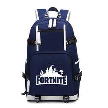 Fortnite 배낭 어깨 여행 십대 청소년을위한 학교 가방 캐쥬얼 USB 충전 노트북 가방 Fortnite 게임 Battle Royale Backpack