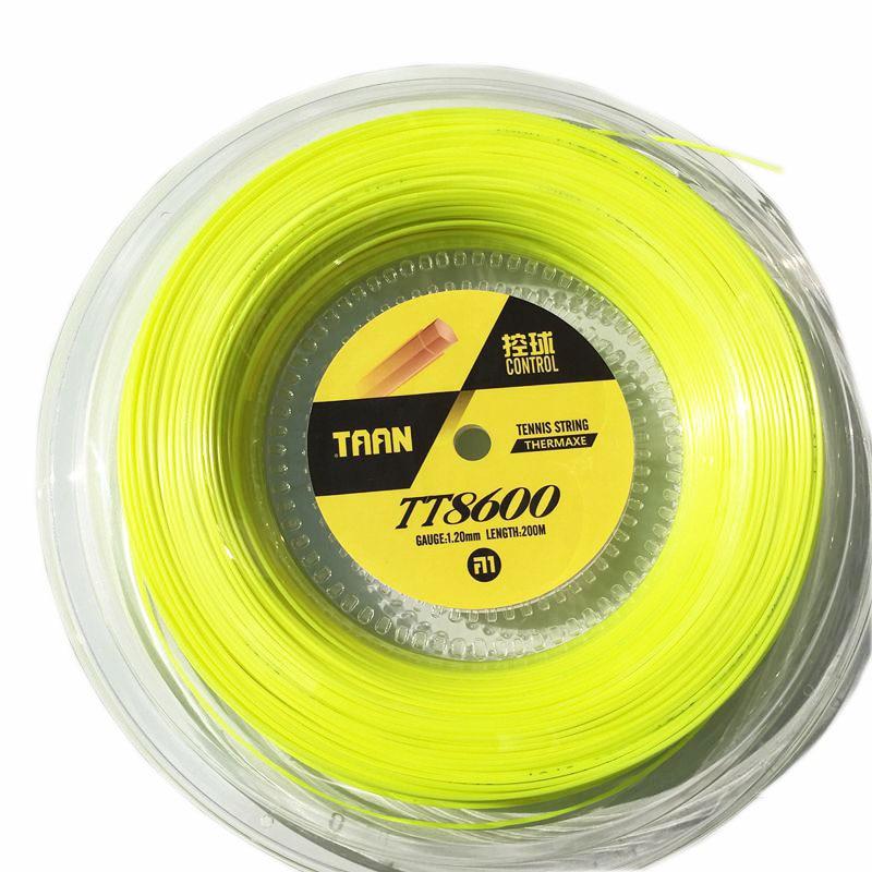 1 Reel TAAN TT8600 Control Tennis Strings Polyester 6-angle Hard-line Strings 1.20mm Tennis Racket String 200M Big Banger