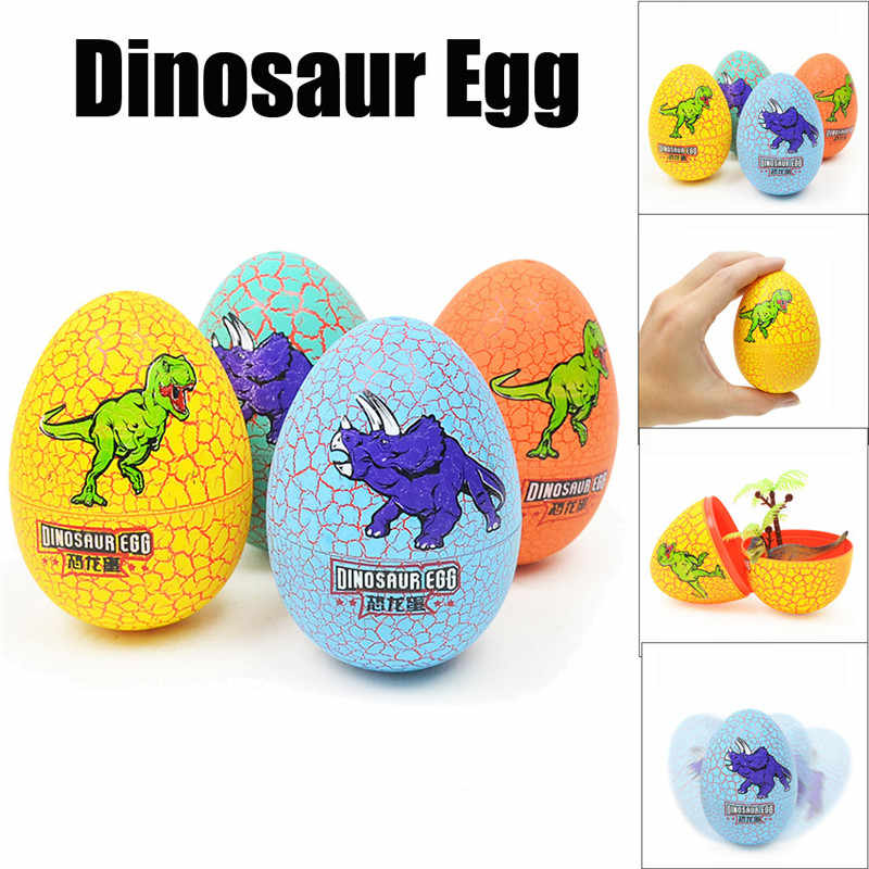 Easter Decor Colorful Crackle Dinosaur Egg Simulation Dinosaurs Animal Model Surprise Toys For Children drop shipping M5