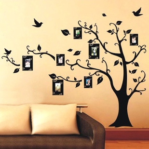 Free Shipping :Photo Frame Family Tree Mural Print Type 3D DIY Home  Decoration Fashion Wall ...