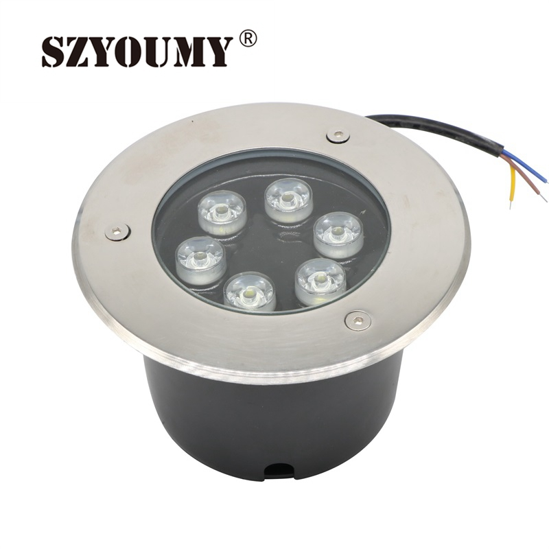cheap SZYOUMY IP67 Waterproof AC85-265V / 12V DC Voltage Input 6W LED Underground Light Warm White/White/RGB Color Available pic,image LED lamps offers