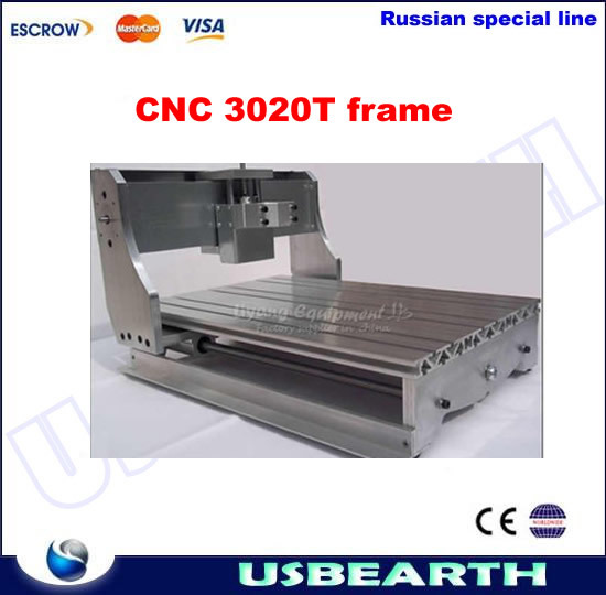 DIY CNC frame for cnc router 3020T with Trapezoidal screw, cnc milling machine part cnc 5axis a aixs rotary axis t chuck type for cnc router cnc milling machine best quality