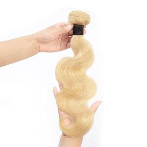 Image 2 - Пряди Gabrielle 613, 30 дюймов, с фронтальной бразильской волной, светлые пряди, с закрытием, прозрачные, кружевные, Remy, человеческие волосы