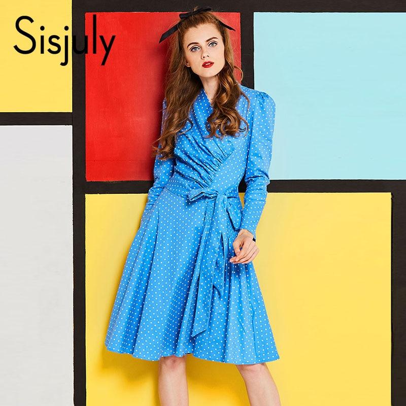 Womens Elegant polka dot dress Slim Casual Party Evening casual dresses Special Occasion spring A line retro Vintage dress
