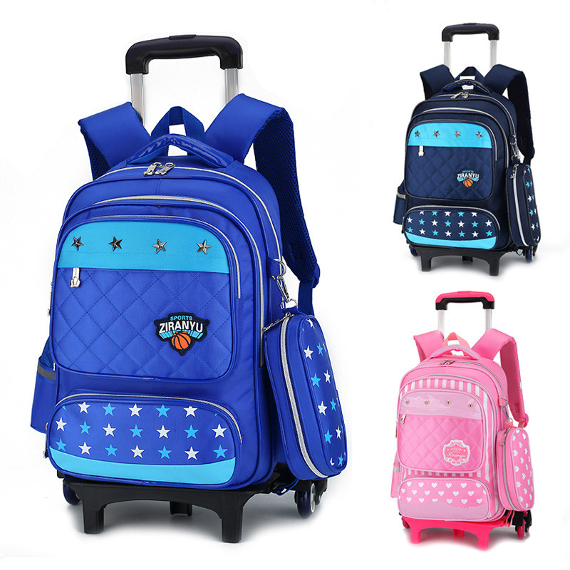Latest Removable Children School Bags With 3 Wheels Stairs Kids boys girls Trolley Schoolbag Luggage Book Bags Wheeled Backpack kids girls trolley schoolbag luggage wheeled book bags backpack latest removable children school bags with 2 3 wheels stairs