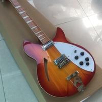 Premium 12 string Rick 360 electric guitar, Korean accessories, half empty center, R bridge, color can be customized