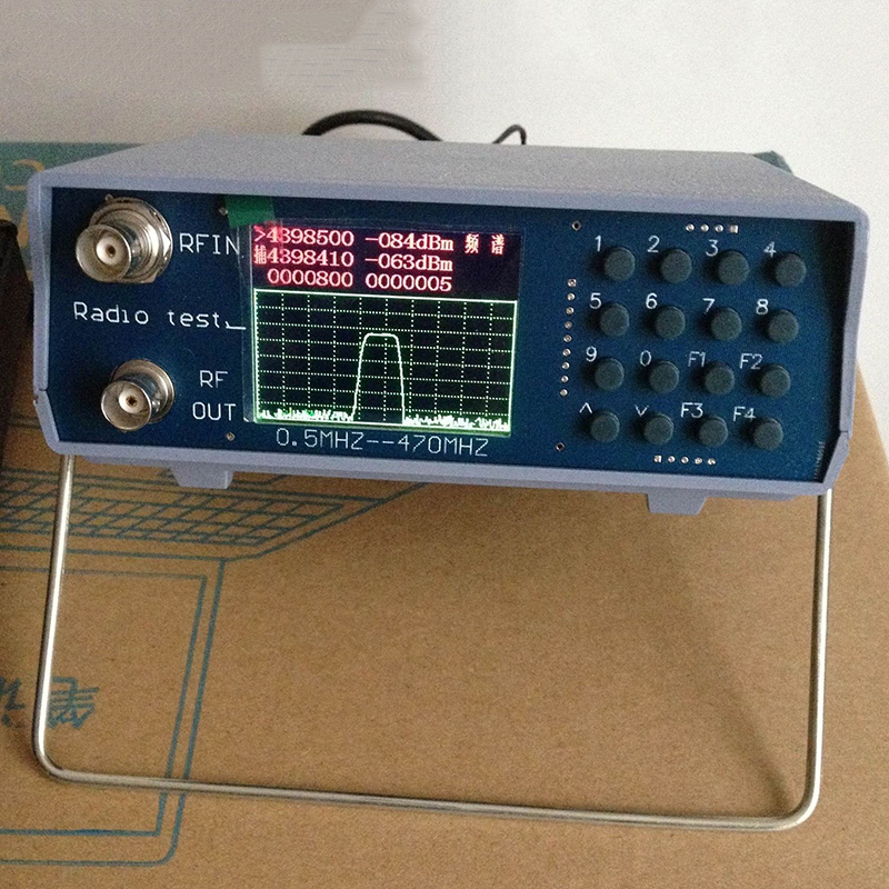 Metal DC 8 - 12V U/V UHF VHF dual band spectrum analyzer with tracking source tuning Duplexers 136-173MHz 400-470MHz tool parts