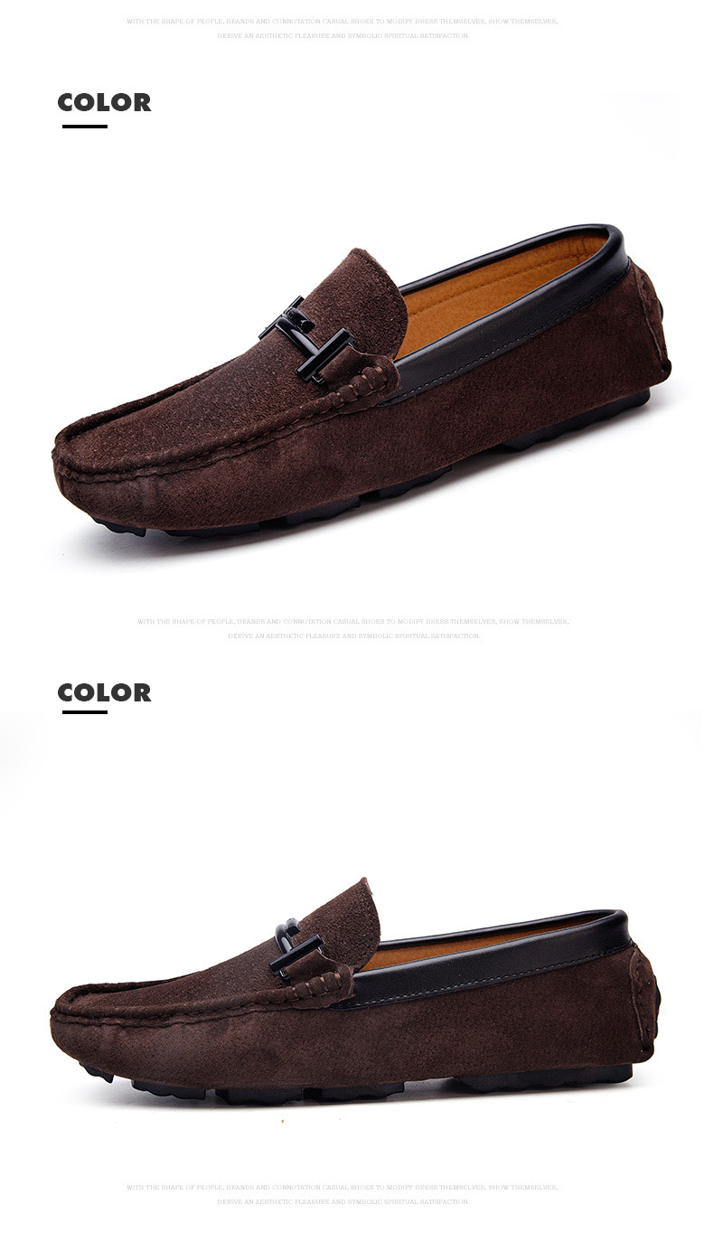 Men's Top Brand Fashion Casual Soft Loafers Suede Boat Shoes Male Footwear Adult Drivings Summer Moccasins Hommes Plus Size 11 72