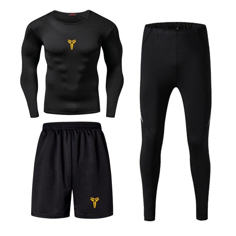 Jordan Kobe James Männer Fitness Tragen Strumpfhosen Sportswear Basketball Training Schnell Trocknend Drei Laufenden Kleidung Gym Compression Sets