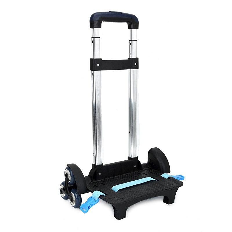 Алюминий сплава тяги кронштейн roll корзину малыш тележка для рюкзак и школьная сумка Чемодан для детей 6 Колёса расширяемый удилище ...