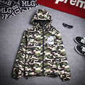 2017 New Autumn Men's Jacket and Coat Cotton Coat Camouflage Loose printed Cartoon Pattern Punk Casual Cardigan Outdoors Parka