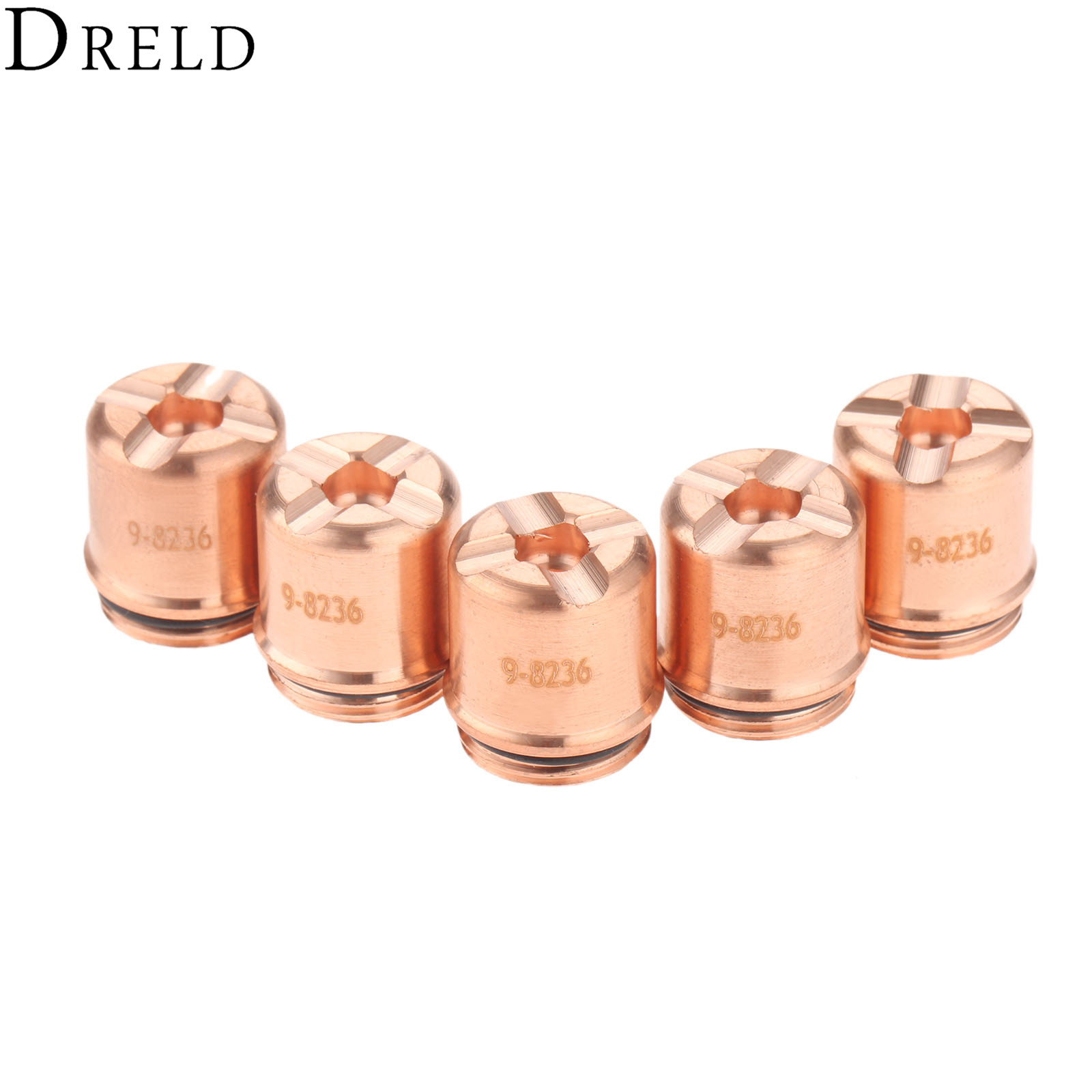 DRELD 5Pc Plasma Shield Cap 9-8236 For SL60 SL100 Plasma Cutter Torch Consumables Parts 70-100A Welding Soldering Supplies