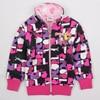 Nova Kids Clothes2015 Girls Winter Jackets Pattern Allover Hot Sale Cartoon Zip Up Children Coat Baby