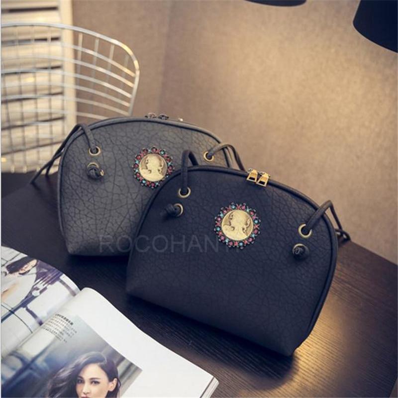 ФОТО Fashion Girls  Litchi Leather Shell Bag Handbag Retro Literature Badge Casual Cross Boday One shoulder Handle Bag for Women
