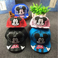 2016 new spring and summer and autumn for child flat along Mickey boys and girls baseball cap cap tide of students