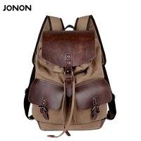 High Quality Vintage Fashion Casual Canvas Microfiber Leather Women Men Backpack Backpacks Shoulder Bag Bags For