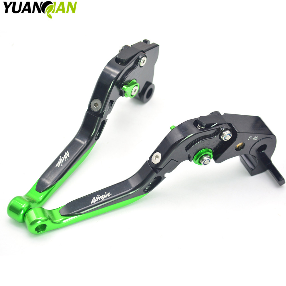 Motorcycle CNC Pivot Brake Clutch Levers Adjustable foldable Levers For KAWASAKI Ninja 300 ABS NINJA 300R 2012 2013 2014 2015 for yamaha yz80 yz85 kawasaki kdx200 kdx220 suzuki rm85 rm125 rm250 drz125l cnc dirttbike pivot brake clutch levers blue