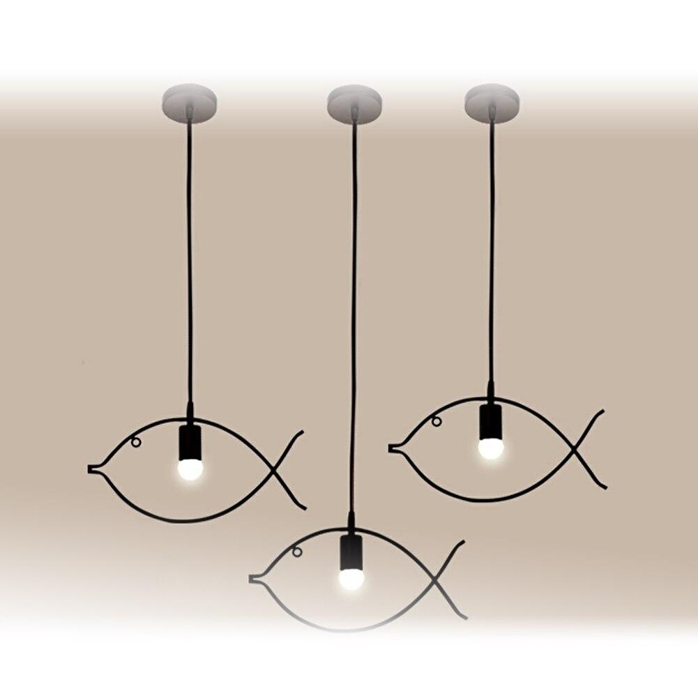 ФОТО Modern Design LED Home Lighting Fish Shape Dinning Hanging Lamp Creative LED Pendant Lighting