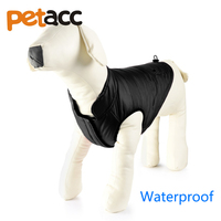 Petacc Su Geçirmez et Köpekler Ceket Sıcak Kış Polar Ceket Yelek Köpek Mont Ceketler Chihuahua Köpek Büyük Köpekler için Pet Giysi