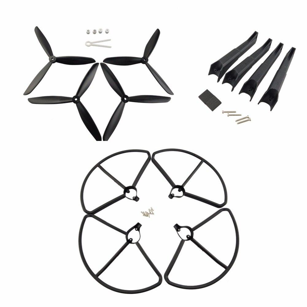 Hubsan X4 H501S H501C H501A H501C H501M H501S W H501S pro parts landing gear/propeller/protective cover UAV parts + BlackHubsan X4 H501S H501C H501A H501C H501M H501S W H501S pro parts landing gear/propeller/protective cover UAV parts + Black