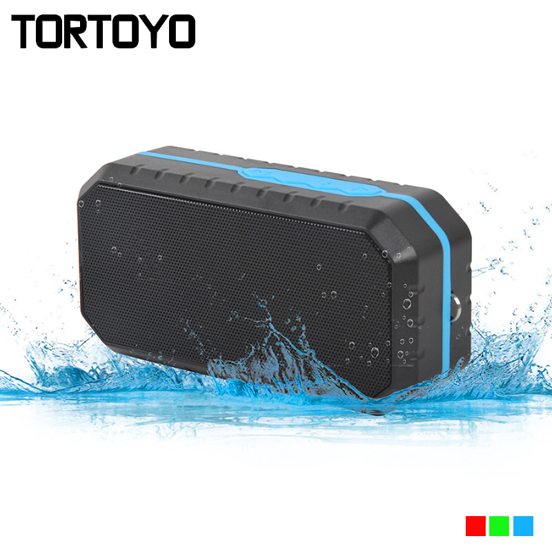 IP65 Waterproof Portable Outdoor Sports Wireless Bluetooth Speaker Support Handsfree TF Card FM Radio Aux USB for Smart Phone PC