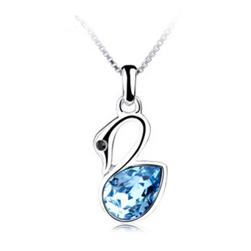 New 2014 fashion silver platinum plated floating rhinestone love new 2014 fashion silver platinum plated floating rhinestone love swan pendants lockets wedding souvenir wholesale in pendants from jewelry accessories on aloadofball Images