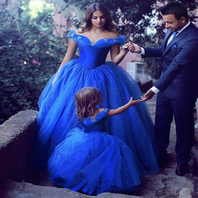 Cinderella Wedding Dresses 2017 : Royal blue ball gowns cinderella wedding dresses for