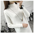 2016 spring large size women's loose long sleeve head  sweater women casual plus size gray pullovers sweater coat