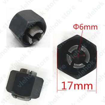 Iron Chuck Cap Nut Part Collet 6mm Cone Replace For Makita 193012-1 763645-2 GD0800C GD0810C GD0811 Power Tool Accessories Tools