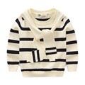 Children Pullovers New Style 2017 Kids Autumn Winter Boys Sweaters Fashion Striped O-neck Knitted Sweater For Boy