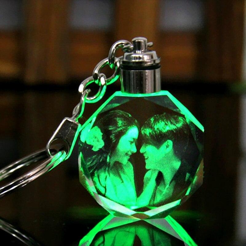 XINTOU Okrągłe LED Dostosowane Mini Brelok DIY Foto Laserowe - Wystrój domu - Zdjęcie 2