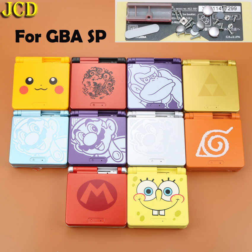 JCD 1pcs Cartoon Limited Edition Full Housing Shell case for Nintend Gameboy Advance SP for GBA SP Game Console Cover