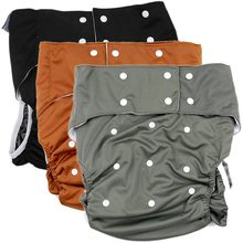 1Pcs Reusable Adult Cloth Diapers Nappy Cover Pockets Couches Lavables Waterproof Adult Diapers One Size Incontinence Pants