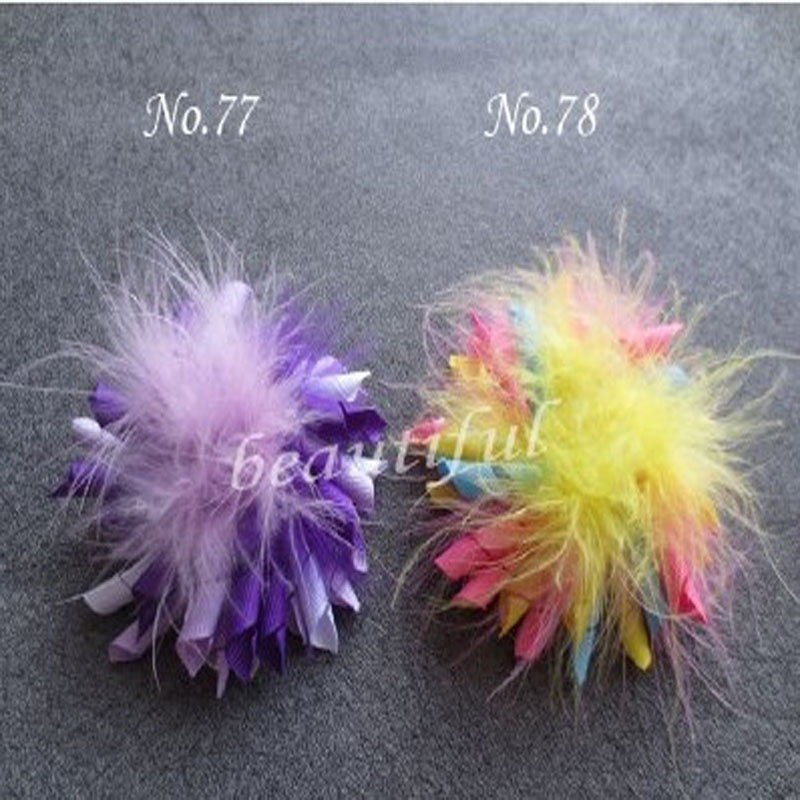 """30 Good Girl 3.5/"""" Feather Corker Hair bow 130 style Pin Clip Barrette Hairbow"""