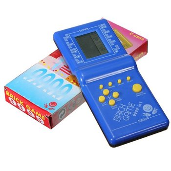 2019 NEW Classic Tetris Hand Held LCD Electronic Game Toys Fun Brick Game Riddle Handheld Game Console