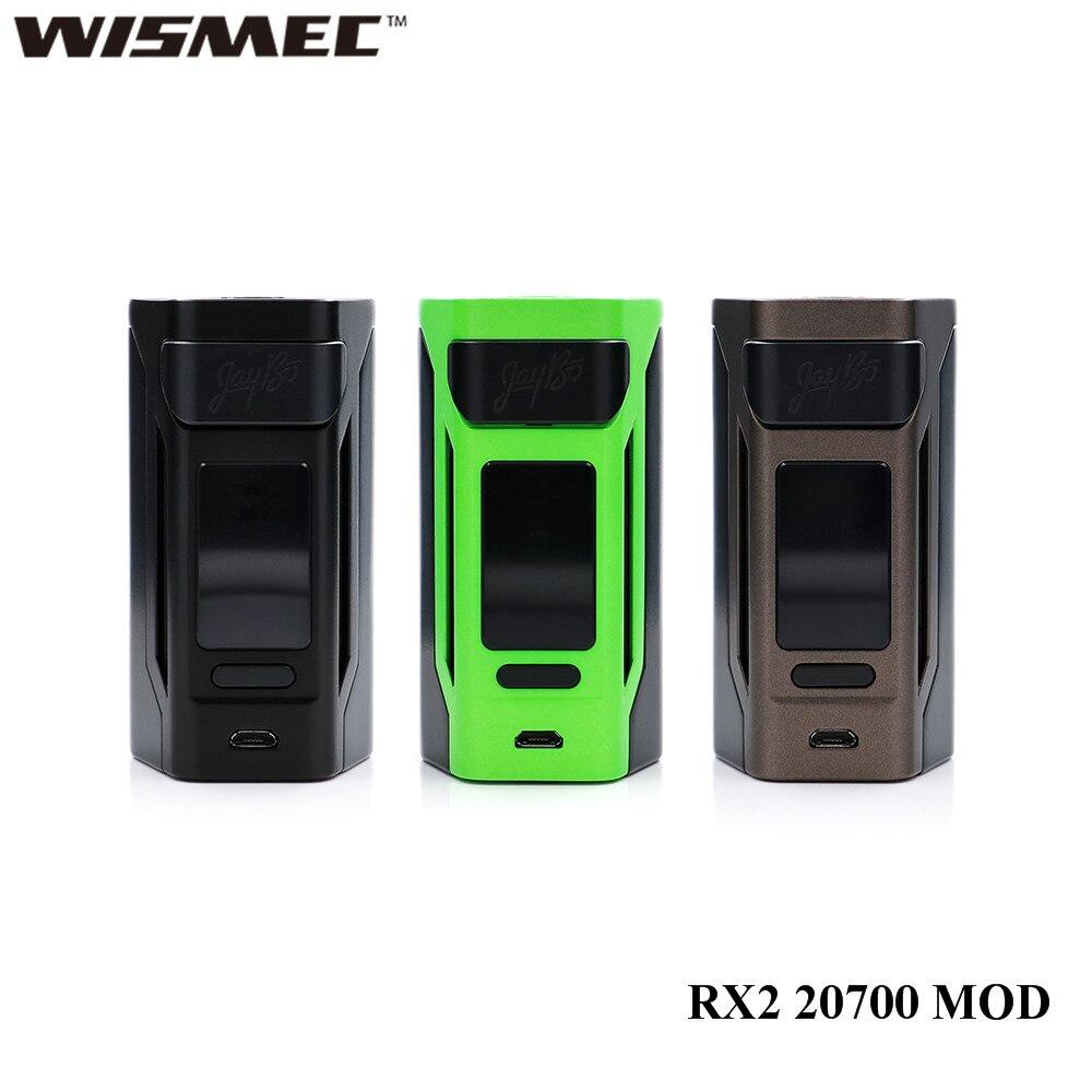 Cigarette électronique d'origine Wismec Reuleaux RX2 20700 200 W RX2 20700 boîte MOD Vape 1.3 pouces affichage vape mod mise à jour rx2/3