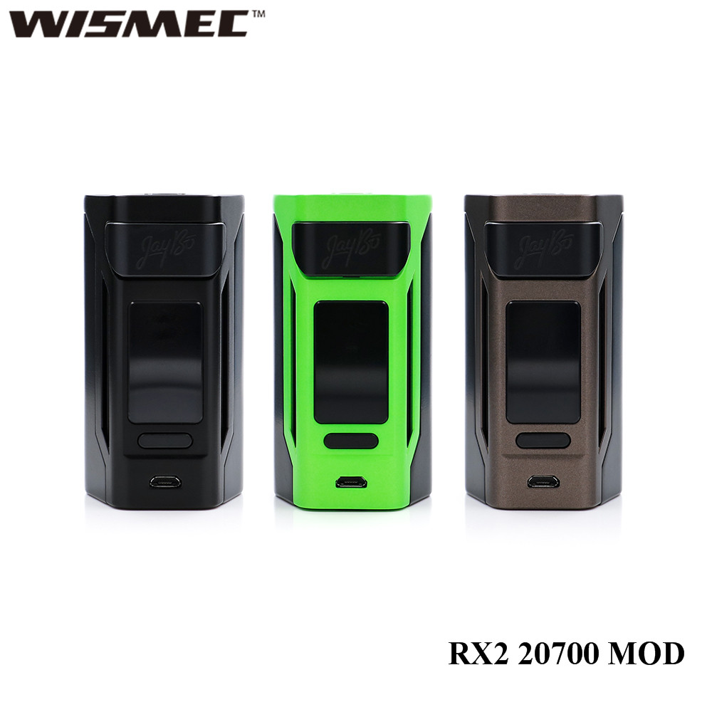 D'origine Cigarette Électronique Wismec Reuleaux RX2 20700 200 W RX2 20700 Boîte MOD Vaporisateur 1.3 pouce affichage vaporisateur mod mise à jour rx2/3