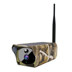 Solar Powered 1080P Hd Trail Game Camera, Ip65 Waterproof Wifi Hunting Camera 850Nm Infared Night-Vision Motion Activated Sens