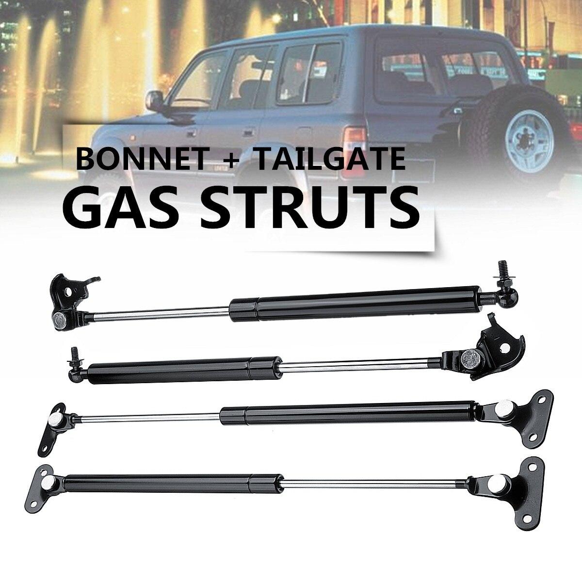 US $15 59 42% OFF 2Pair Bonnet+Tailgate Gas Struts Lift for Toyota Land  Cruiser 80 Series 90 97 Steel Front Bonnet Length 47cm Tailgate 53cm-in  Strut
