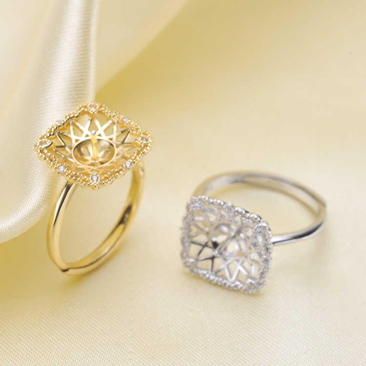 2018 ใหม่ที่ดีที่สุดขายแฟชั่นเครื่องประดับแหวนสตรีสตรีทมุก 925 เงินขนาดแหวนเปิดแหวนปรับ