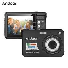"""Andoer 18M 720P HD Цифровая камера видеокамера 8X цифровой зум анти-встряхивание 2,"""" ЖК-видеокамера для детей Рождественский подарок"""