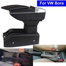 Кожа автомобиль центральной консоли подлокотник коробка для хранения для Volkswagen VW Bora 2001 ~ 2006 2007 2008 2009 2010 Авто подлокотниками с USB