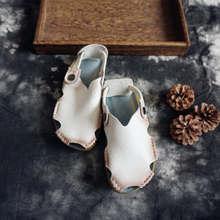 Женские летние туфли из натуральной кожи на низком каблуке женские удобные пляжные сандалии ручной работы T25-25